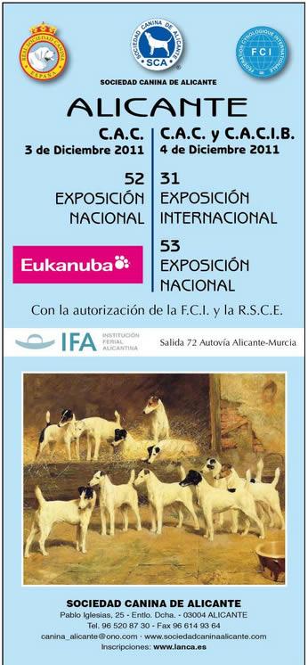 Cartel de la Exposicion Canina Alicante 3, 4 Diciembre 2011